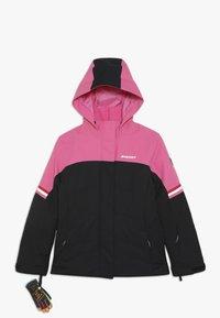Ziener - ATHILDA JUNIOR - Ski jacket - black/pink dahlia - 1
