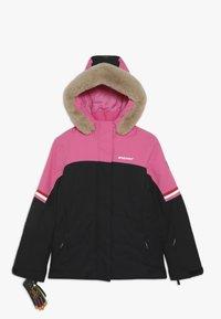 Ziener - ATHILDA JUNIOR - Ski jacket - black/pink dahlia - 0