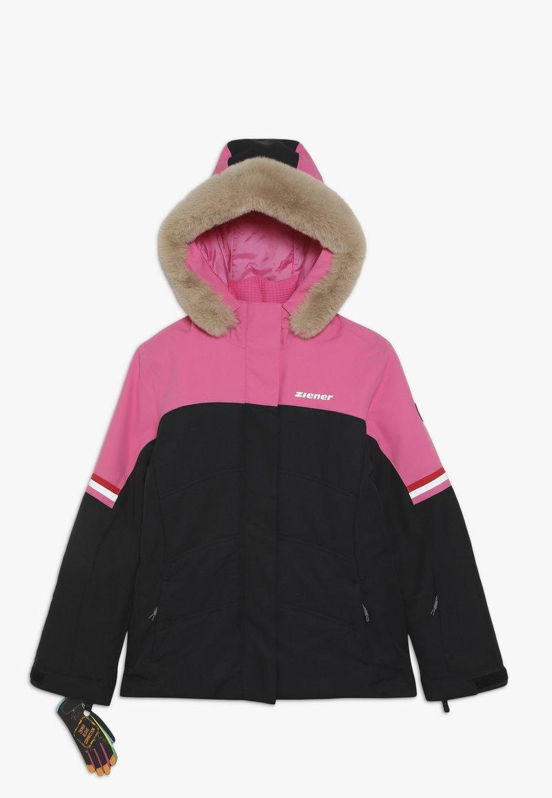 Ziener - ATHILDA JUNIOR - Ski jacket - black/pink dahlia