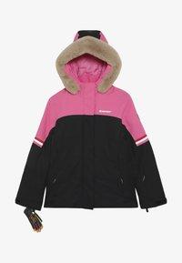 Ziener - ATHILDA JUNIOR - Ski jacket - black/pink dahlia - 4