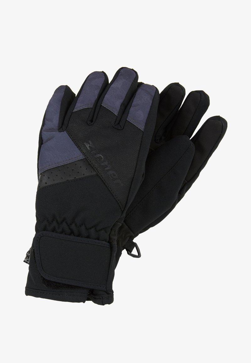 Ziener - LOX AS® JUNIOR - Handschoenen - black/grey night camo