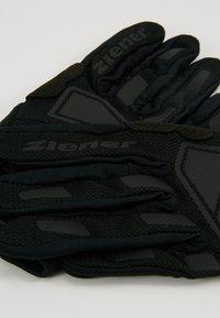 Ziener - CAMET TOUCH LONG BIKE GLOVE - Handsker - black - 5