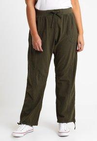 Zizzi - MMARRAKESH LONG PANT - Trousers - ivy green - 0