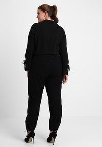Zizzi - MMARRAKESH LONG PANT - Trousers - black - 2