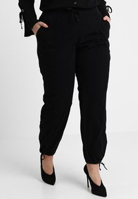 Zizzi - MMARRAKESH LONG PANT - Trousers - black - 0