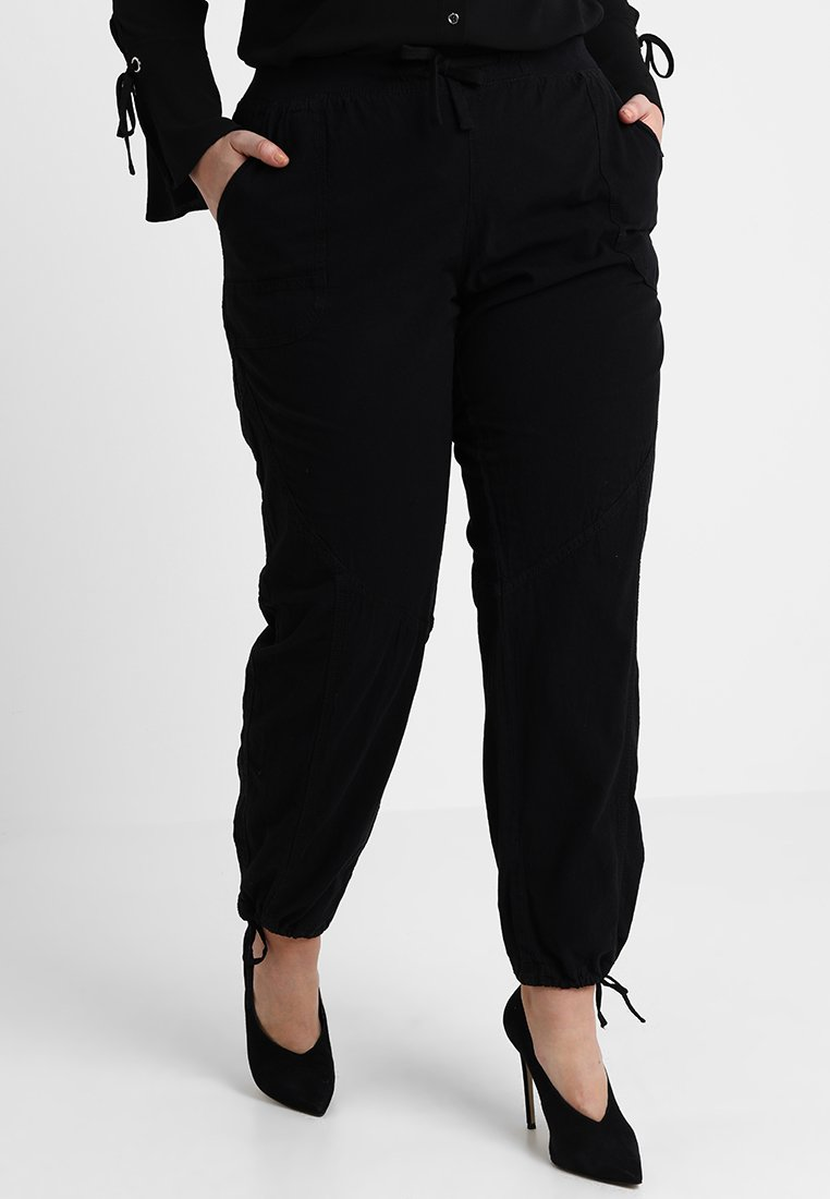 Zizzi - MMARRAKESH LONG PANT - Trousers - black