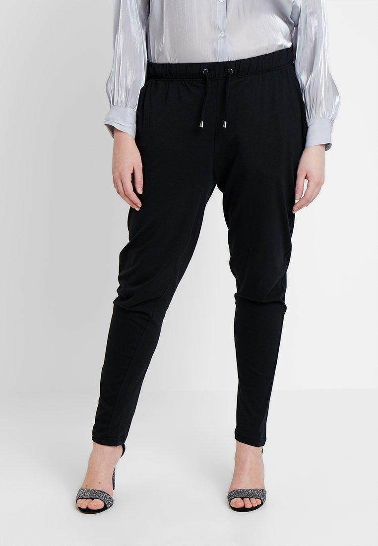 Zizzi - MINA LONG PANT - Træningsbukser - black