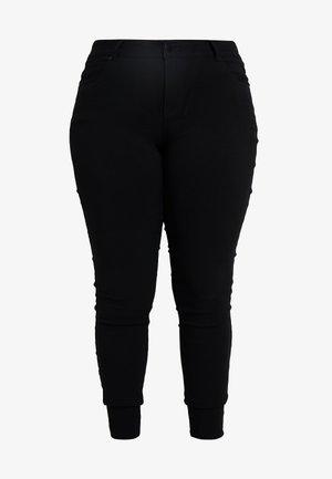 PANT LONG SLIM LEG - Trousers - black