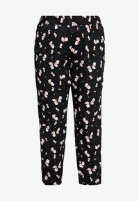 Zizzi - QALBA LONG PANTS FLORAL - Pantalones - black - 3