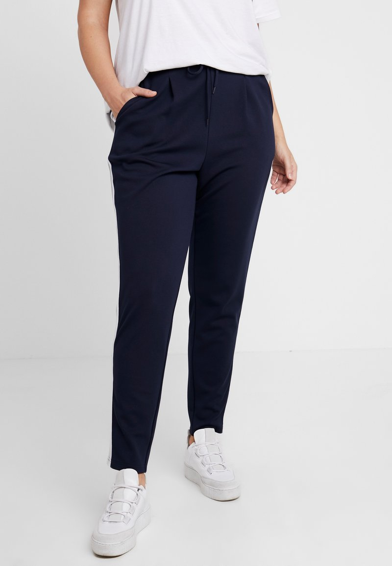 Zizzi - JMADDISON CROPPED PANT SIDE TAPE - Stoffhose - night sky
