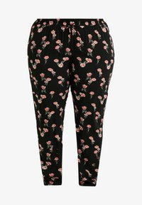 Zizzi - EXCLUSIVE EFLORAL WIDE PANT - Pantalon classique - black combo - 4