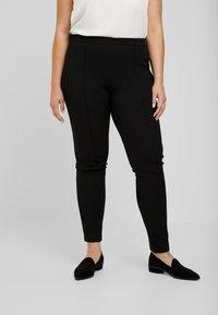 Zizzi - EXCLUSIVE ERICCI PANTS - Leggings - Trousers - black - 0