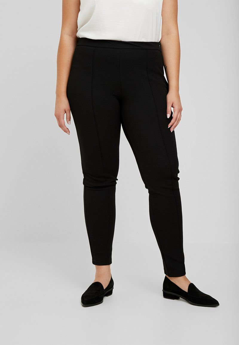 Zizzi - EXCLUSIVE ERICCI PANTS - Leggings - Trousers - black