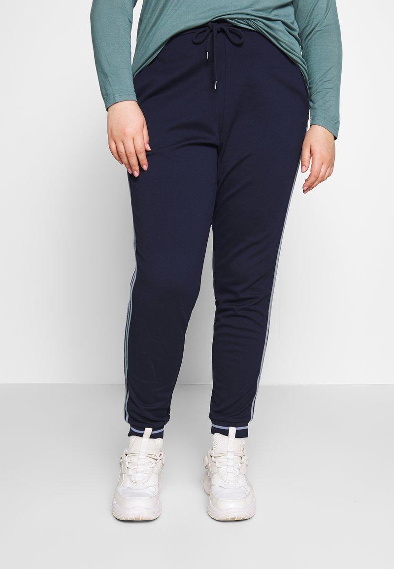 Zizzi - JMADDISON CROPPED PANT - Bukser - peacoat