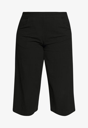 JALLY CULOTTE - Trousers - black