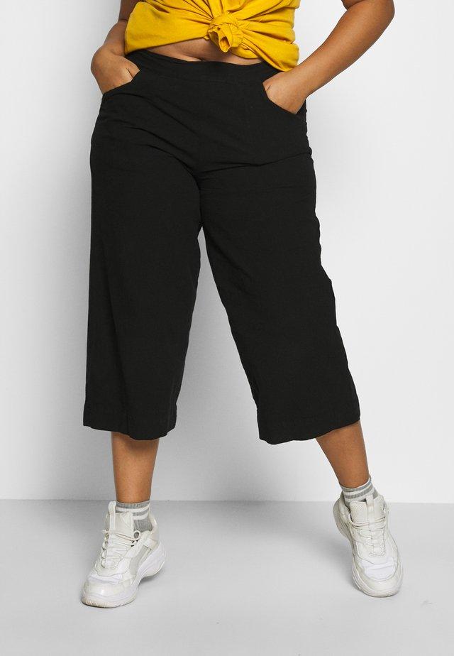JALLY CULOTTE - Pantaloni - black