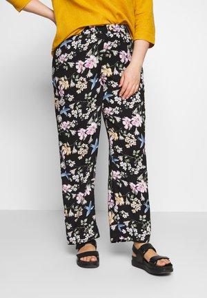 LONG LOOSE PANT - Pantalones - black