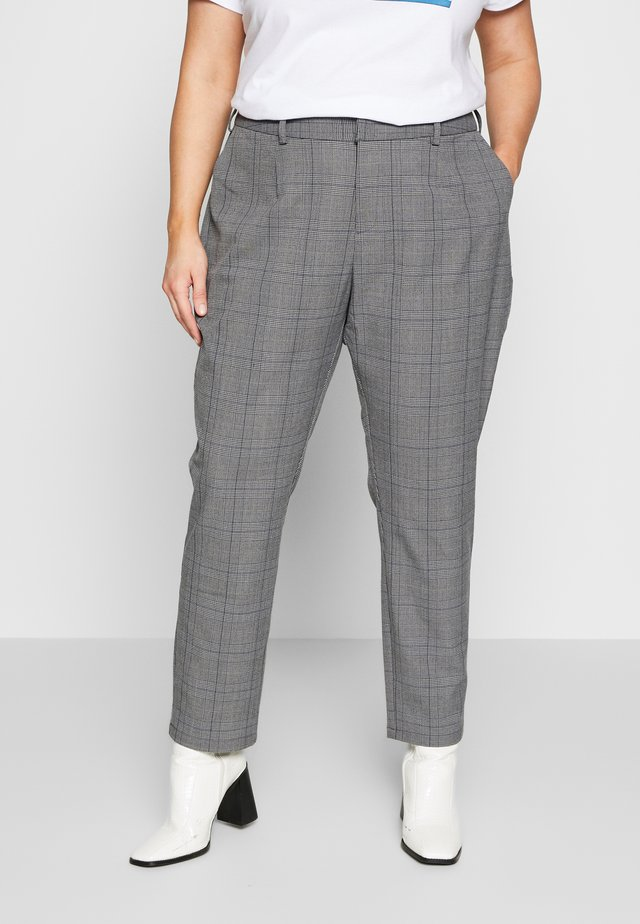 Pantalon classique - grey with blue check
