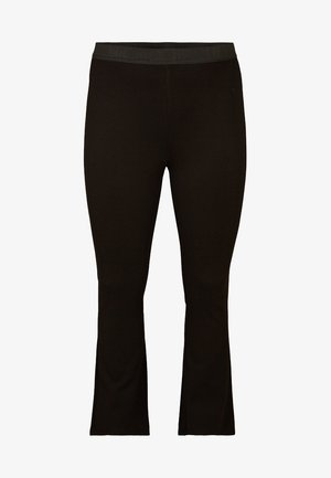 BOOTCUT - Leggings - black