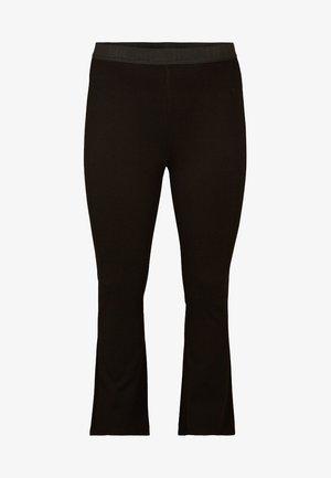 BOOTCUT - Leggings - Trousers - black