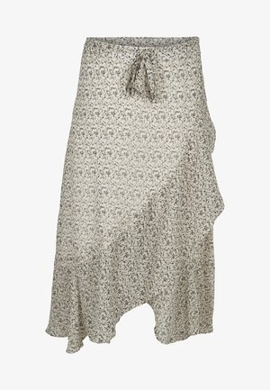 CANYON DITSY WRAP SKIRT WITH FRILL DETAIL - A-linjekjol - snow white