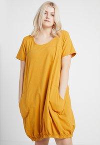 Zizzi - MMARRAKESH DRESS - Day dress - golden yellow - 0
