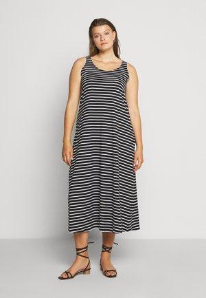 VMINA DRESS - Jerseykjoler - black/white