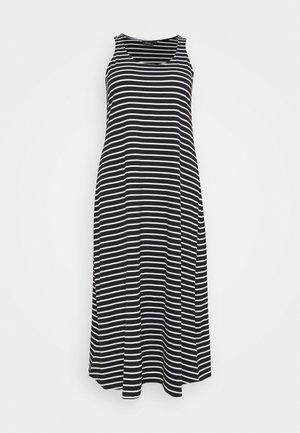 DRESS - Žerzejové šaty - black/white