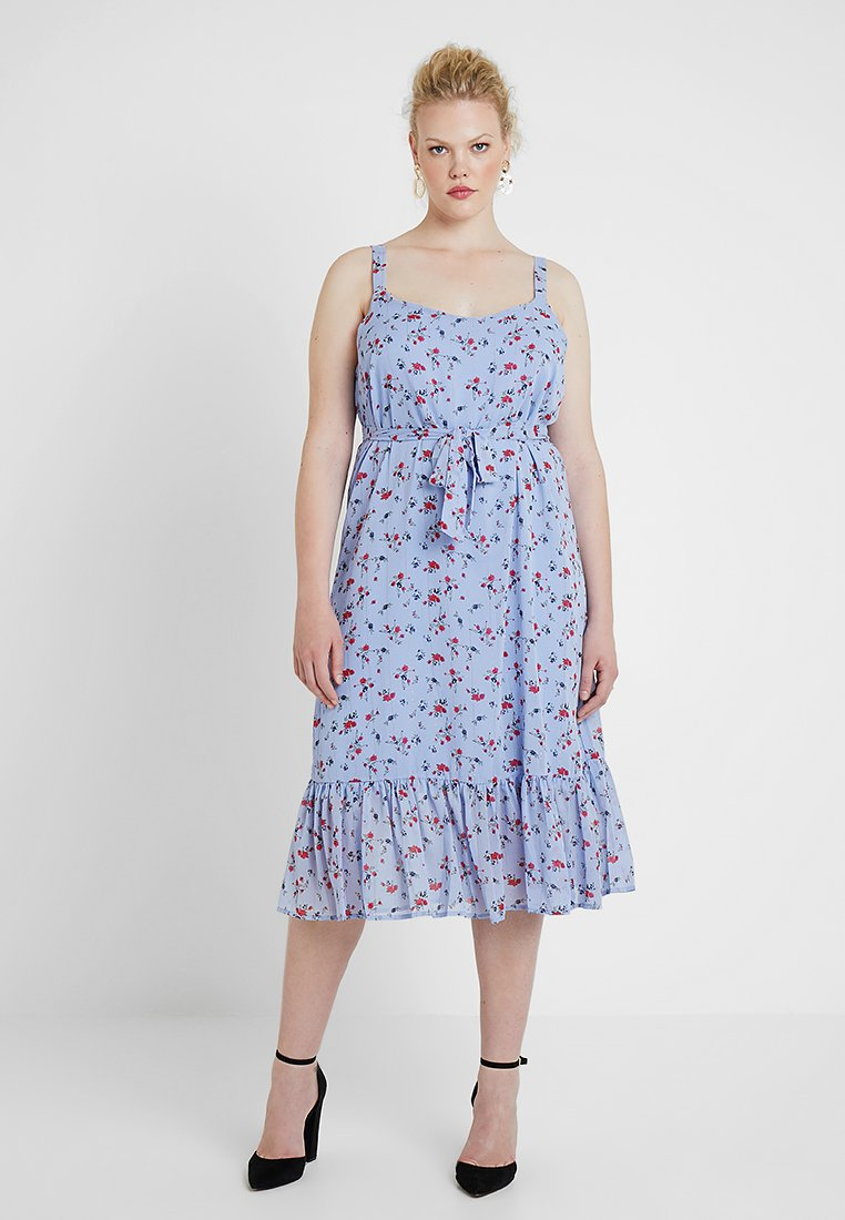 Zizzi - XOANNA MEDI DRESS - Hverdagskjoler - blue