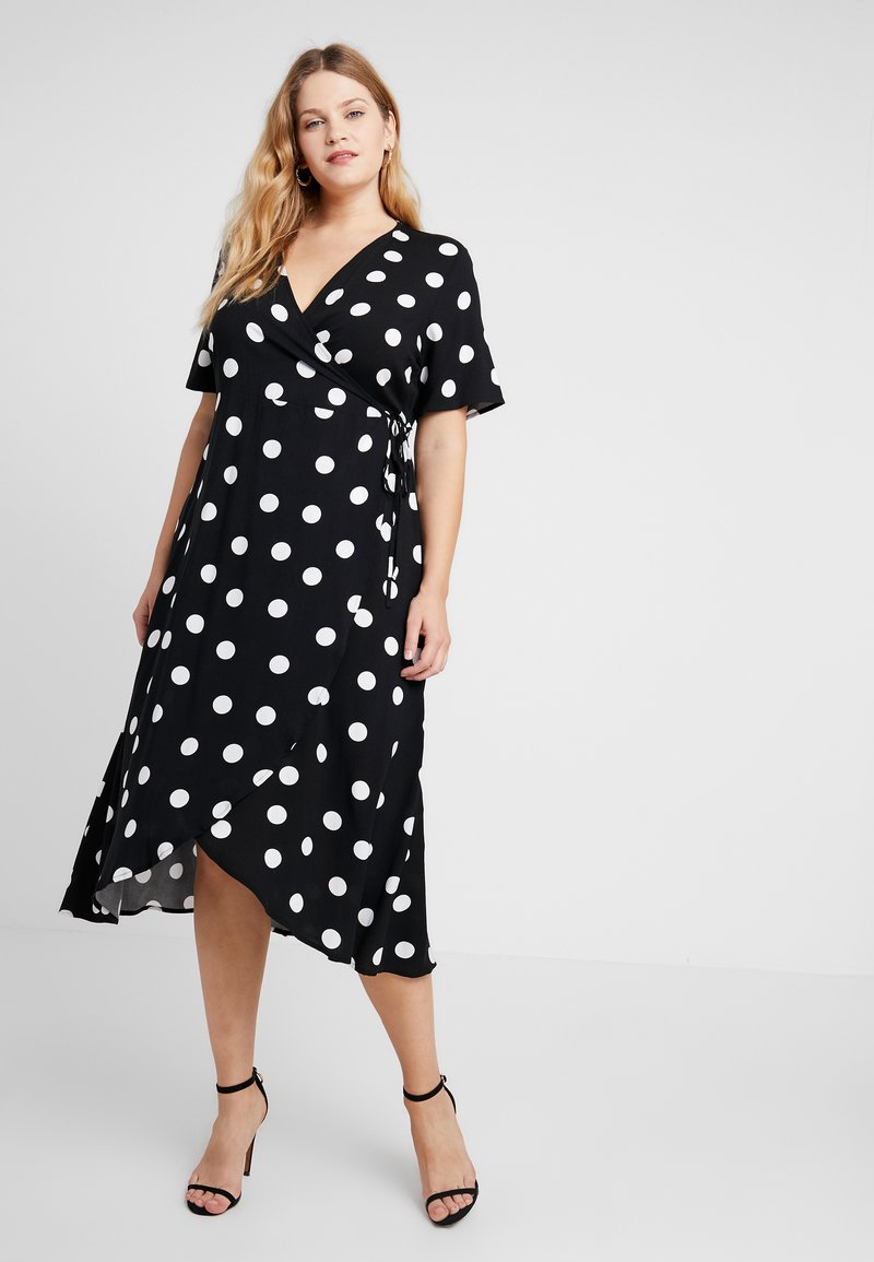 Zizzi - MFRIDA DRESS - Maxi dress - black/white