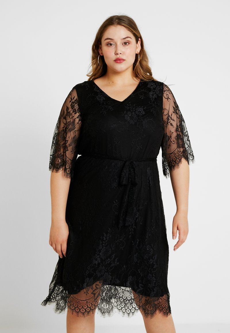 Zizzi - XYANA KNEE DRESS - Cocktailkjole - black