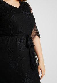 Zizzi - XYANA KNEE DRESS - Juhlamekko - black - 6