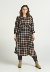 Zizzi - Skjortklänning - black - 0