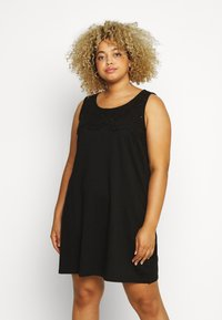 Zizzi - VSOFIA DRESS - Jersey dress - black - 0