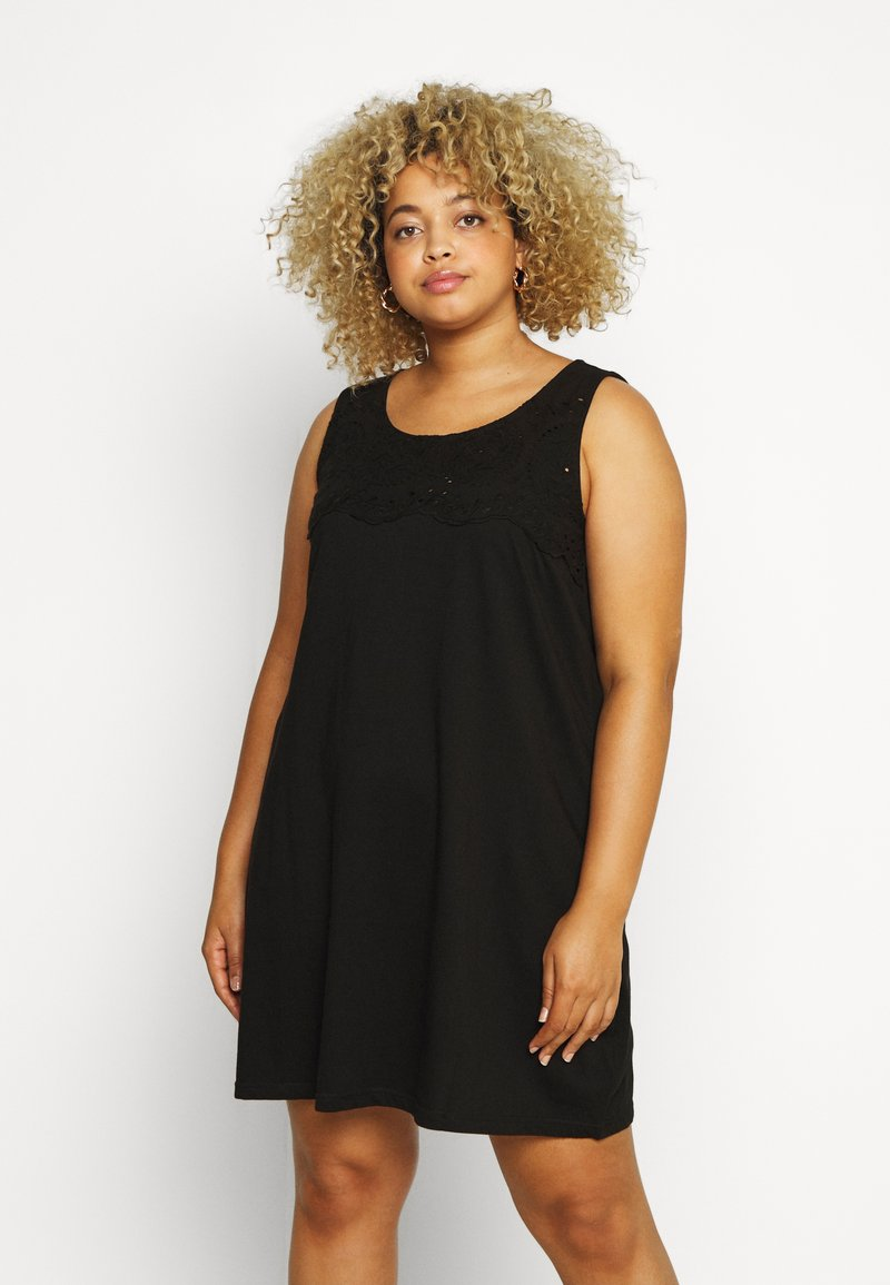 Zizzi - VSOFIA DRESS - Jersey dress - black
