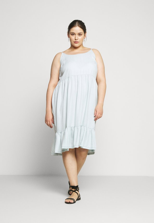 JSHALLOW STRAP DRESS - Day dress - super light denim