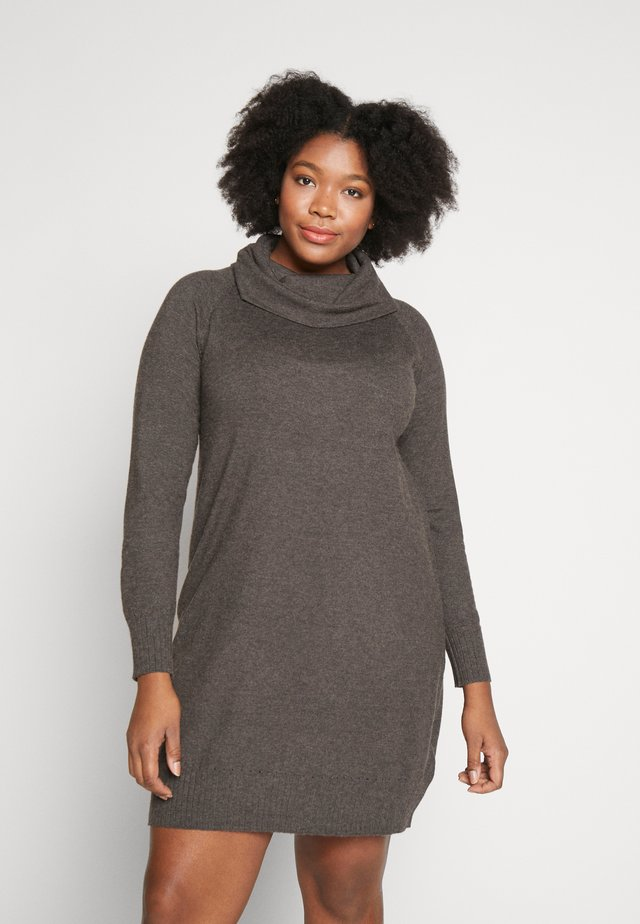 MAVA DRESS - Jumper dress - mottled dark grey