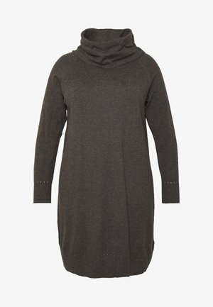 MAVA DRESS - Strikket kjole - mottled dark grey
