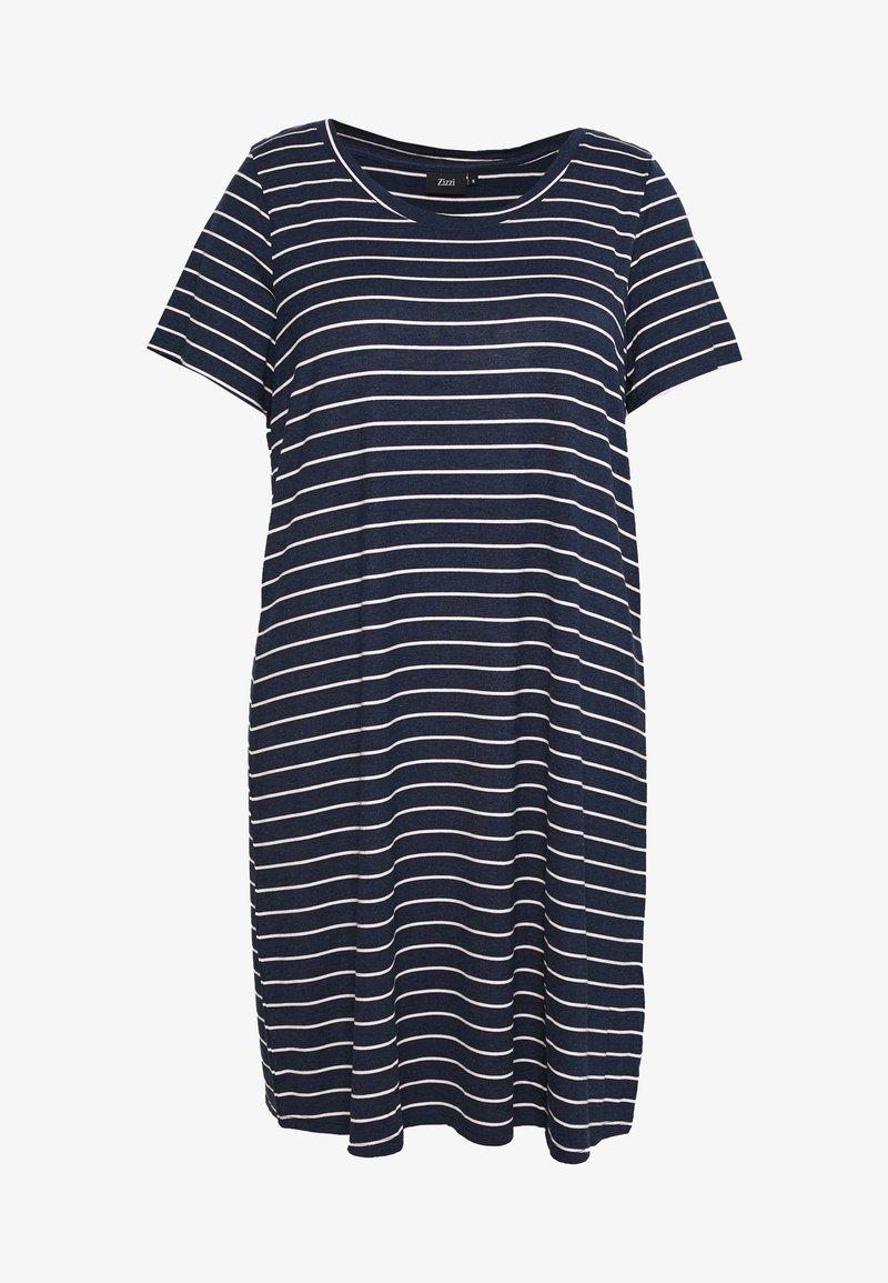 Zizzi - VFREJA DRESS - Jerseykjoler - mood indigo