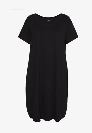 VFREJA DRESS - Vestito di maglina - black