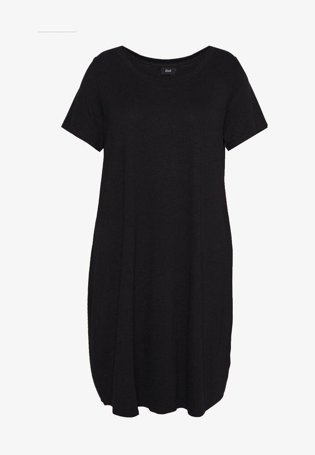 VFREJA DRESS - Žerzejové šaty - black