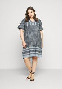 Zizzi - MNESSA KNEE DRESS - Denní šaty - forever blue - 0