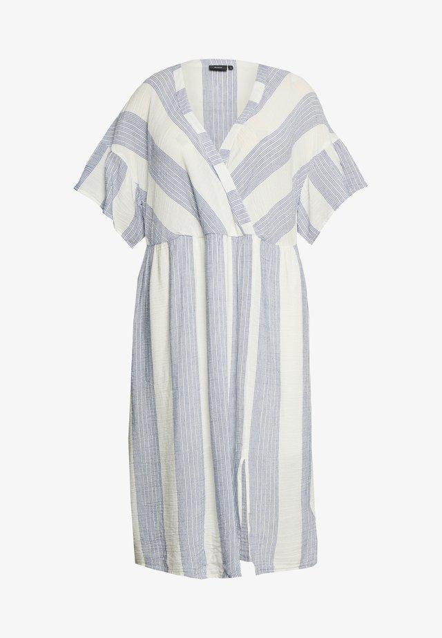 MNYLAH LONG DRESS - Denní šaty - snow white/blue