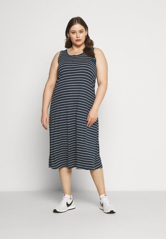VFREJA DRESS - Jerseykleid - mood indigo/white