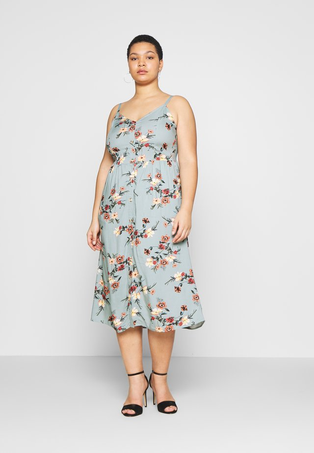 VVIGA MAXI BUTTON DRESS - Korte jurk - aqua