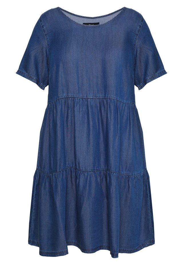 JNETE ABOVE KNEE DRESS - Denimové šaty - medium blue