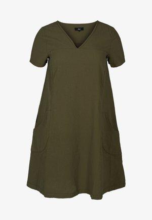 SHORT SLEEVE - Day dress - green
