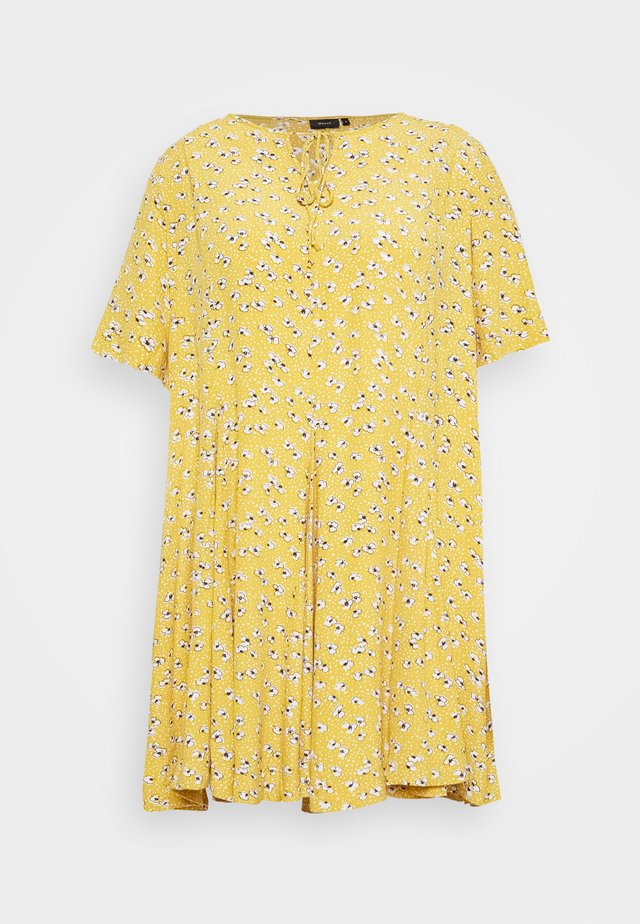 XANA KNEE DRESS - Korte jurk - golden yellow