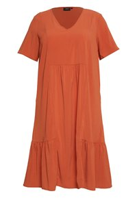 Zizzi - MCOMO KNEE DRESS - Day dress - burnt brick - 0