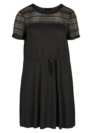 MIT KURZEN ÄRMELN - Day dress - black